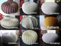 "You will get 9 Pouf Patterns (4 Pouf Patterns and 5 Pouf Tutorial) !1.Crochet Grey XL Pouf▪ Diameter 65 cm (26"") ▪ Height 35 cm (14"")Crochet Beige Pouf Diameter 55 cm (22"")Height 35 cm (14"")Crochet Light Brown Pouf Size: 55 cm x 35 cm / 22 "" x 14 "" Crochet Grey Pouf▪ Diameter 65 cm (26"") ▪ Height 30 cm (11,8"")Knitted Brown PoufThere are two sizes:A. Size: 40 cm x 20 cm / 15,7 inch x 7,9 inch . B. Size: 60 cm x 25 cm / 23,6 inch x 9,8 inch . XXL Knitted Grey ..."