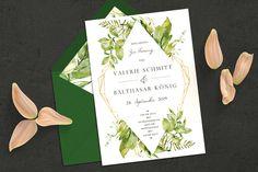 Floral invitation to the wedding Personalized Invitations, Personalized Wedding, Vintage Wedding Invitations, Floral Invitation, Newlyweds, Floral Watercolor, Wedding Cards, Wedding Ceremony, Designer
