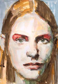 W.DECHANT - 28.5.2015 - 17 x 24 cm - pencil - watercolor / paper - NEXT TOMORROW