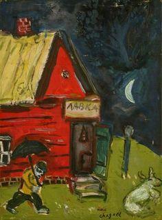 Marc Chagall - L' Homme au Parapluie' - ',c. 1930′s'