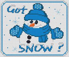Got Snow ? free cross stitch pattern