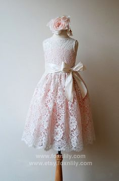 READY to Ship  SALE Ivory Lace Dress with Pink lining by FoxnLily, $180.00... Maybe perfect!  Just not so perfectly priced