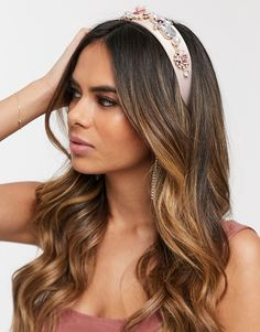 Discover hair accessories with ASOS. From beaded headbands to hair clippers and hair bows, our range of hair accessories has something for every occasion. Asos, Insta Pictures, Bandeau, Pink Satin, Krystal, Hair Inspo, Cute Hairstyles, Hair Bows, Headbands
