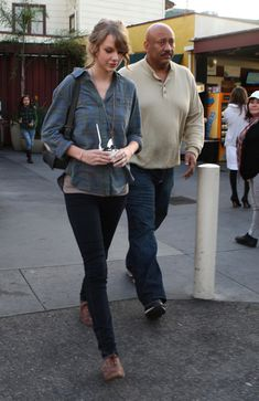 Taylor Swift's Casual in jeans.
