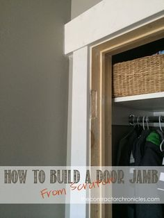 How to Build a Door Jamb from Scratch - The Contractor Chronicles