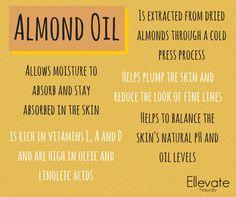 Benefits of Almond OIl https://www.facebook.com/ellevatenaturally/photos/a.512672888762584.128986.512666322096574/980722718624263/?type=1&theater