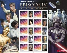 """StarWars #stamps  The first film in the series """"A New Hope"""" was originally released on May 25, 1977, under the title Star Wars, by 20th Century Fox, and became a worldwide pop culture phenomenon  http://auspo.st/PQBtbm"""