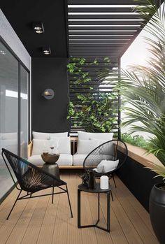 Modern Balcony, Small Balcony Design, Small Balcony Garden, Small Balcony Decor, Balcony Ideas, Small Balcony Furniture, Terrace Ideas, Small Balconies, Terrace Garden