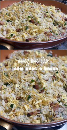 Arroz Biro Biro, Grains, Healthy Recipes, Healthy Food, Food And Drink, Low Carb, Rice, Emerson, Rice Recipes