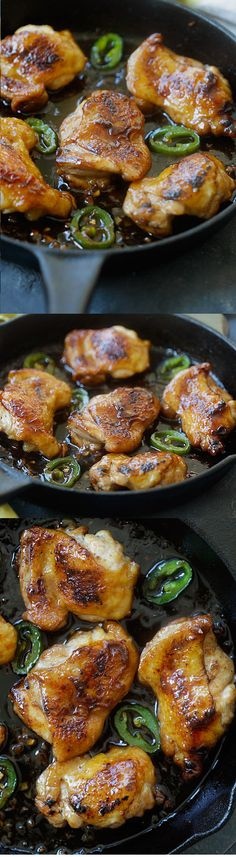 Caramel chicken – the easiest and most delicious Asian chicken dish ever with sticky, sweet and savory chicken. Dinner is done in 20 mins   rasamalaysia.com