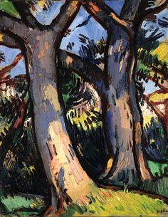Samuel John Peploe. Trees at Douglas Hall