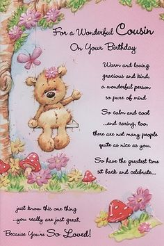 Birthday card for female cousin yahoo image search results birthday cards female relation birthday cards female cousin for a bookmarktalkfo Images