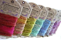 Upcycled Silk Ribbon for Jewelry from Darn Good Yarn this would work for baby sandals
