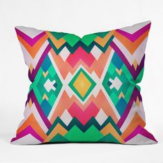 Elisabeth Fredriksson Summer Peaks Pattern Outdoor Throw Pillow | DENY Designs Home Accessories