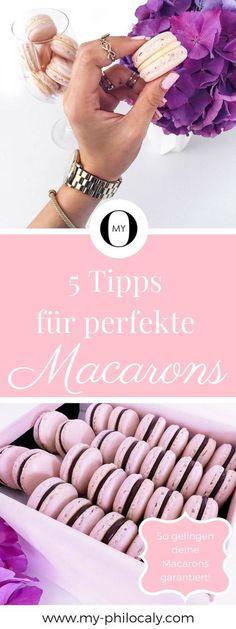 Rezept für französische Macarons - Deine Macarons gelingen einfach nicht? Hier erfährst du warum und worauf du achten musst. Mit diesen Tipps zauberst auch du perfekte Macarons aus dem Ofen!