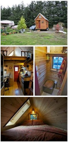 Tiny house in Oregon on wheels.  It was a big deal when they installed an air conditioner.  The utility bill doubled.  It went from $6 a month to $12.