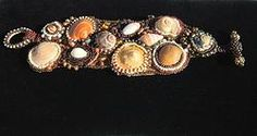 """Original Seed Bead Embroidery """"Nautilus"""" Cuff I really love this too"""