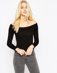 Image 1 of ASOS The Off Shoulder Body With Long Sleeves