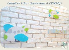 Création personnalisée by Art-déco Salamandre  #decorchambreenfant #avion #mouton #banderole #bois #decorprairiedelenny