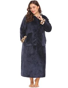 98eb659cfee IN VOLAND Plus Size XL 5XL Women Sleepwear Robes Soft Warm Lounge Plush  Fleece Dress Lingerie Bathrobe Dressing Gowns Big Size-in Nightgowns    Sleepshirts ...