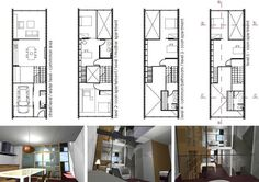 Family Dwelling Borneo Sporenburg, Amsterdam, Holland. by Arnau Sallés, via Behance
