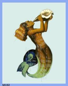 Musical Mermaid Crafts Fabric Block by MermaidFabricBlocks on Etsy