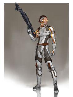 Sebastian - Mass Age by AndrewRyanArt.deviantart.com -  Mass Effect x Dragon Age fusion