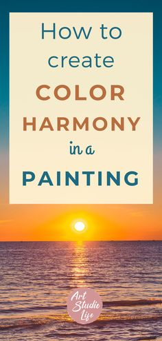 Learn how to create color harmony in your painting with this ultimate color harmony guide for painters! This is an awesome guide that will give you a great overview about what color harmony is and how you can apply it to your painting. Color harmony painting. color theory for painters. Color inspiration. How to use color in painting. Color Wheel. Understanding color harmony and color theory. Visual guide to color harmony. #colorharmony #colorforpainters #howtoseecolor #howtomixcolor Color Harmony, Harmony Art, Your Paintings, Color Theory, Painters, Color Inspiration, Color Mixing, Oil Painting For Beginners, How To Apply