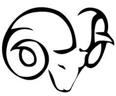 attractive-tribal-aries-tattoo-design-stencil.jpg (500×414)
