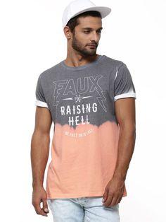 Red acid wash New York print t-shirt | Menswear | Pinterest ...