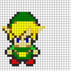 Zelda Perler Bead Pattern | Bead Sprites | Characters Fuse Bead Patterns