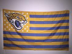 NFL Jacksonville Jaguars Football 3x5 Flag Banner Man Cave FREE SHIPPING!!!!  #JacksonvilleJaguars