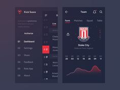 Another WIP of the first version mobile app design for Kick Score — brand new mobile app with live soccer scores from all over the World. Stay tuned!