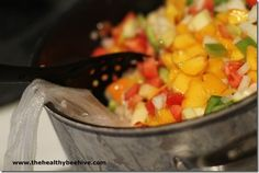 peach apple salsa