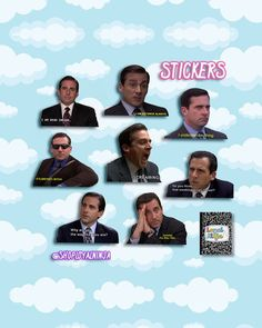 866f08128c The Office TV Show Gift - Sticker Pack - Michael Scott Quotes Stickers - 8  ct