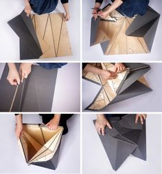origami stool magnetic furniture