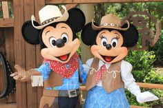 Meeting Cowboy Mickey and Cowgirl Minnie Disney Cartoon Characters, Disney Cartoons, Disney Movies, Mickey And Minnie Love, Mickey Minnie Mouse, Cartoons Love, Disney Magic Kingdom, Disney Costumes, Cowboy And Cowgirl