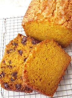 EASY PUMPKIN BREAD- With or without chocolate chips/nuts. From King Arthur Flour.  Made this for Thanksgiving... it was so good!