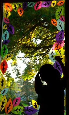 Tissue paper leaf window display