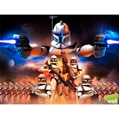Captain Rex and Clone Army - Star Wars wall mural