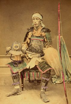 Japanese Samurai warrior, circa 1860