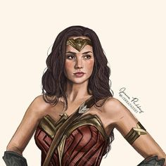 "2,277 Likes, 50 Comments - Jenna Paddey Art (@jennapaddey) on Instagram: ""Oh hey friends. Wonder Woman is coming out soon, so in honour of that I drew Wonder Woman. Go…"""