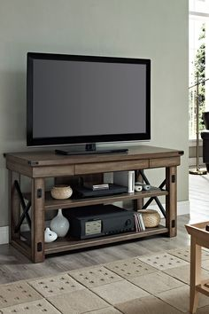 Altra Furniture Wildwood Metal Frame Rustic TV Console