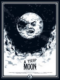 A Trip to the Moon.  Perhaps instead of a rocket in the moon's eye, perhaps that is some weird emedded steampunk monocle.