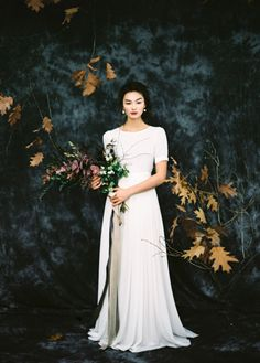 Sheath modest short fitted sleeve wedding dress by CathyTelle on Etsy https://www.etsy.com/listing/222564187/sheath-modest-short-fitted-sleeve