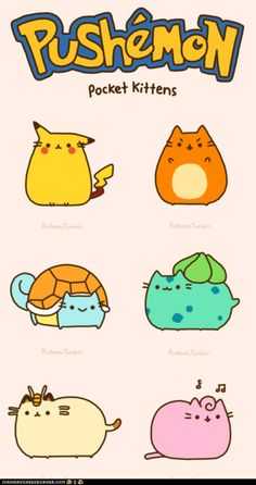 What's better than pusheen and Pokemon? A combination of pusheen and pokemon. Kawaii Drawings, Cute Drawings, Gato Pusheen, Chibi, O Pokemon, Pokemon Stuff, Pokemon Jigglypuff, Pokemon Photo, Pokemon Pocket