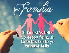 Familia si tu estás feliz yo estoy feliz