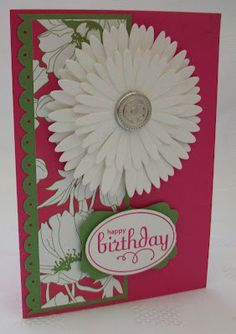 Lovely Dimensional Flower Card...Stamping Moments: A Spring Gift For You.