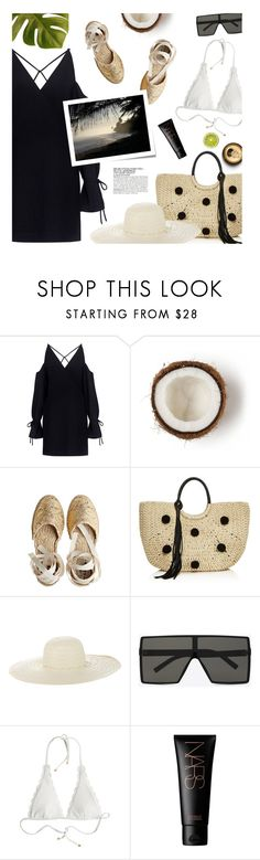 """Exotic destination"" by magdafunk ❤ liked on Polyvore featuring IRO, Castañer, Rebecca Minkoff, Jennifer Ouellette, Yves Saint Laurent, Heidi Klein, NARS Cosmetics, McGinn and Post-It"