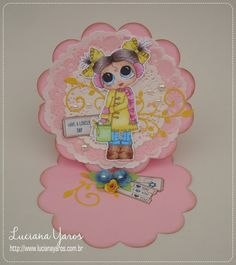 Luciana Yaros Scrapbooking: Doilies e mais doilies